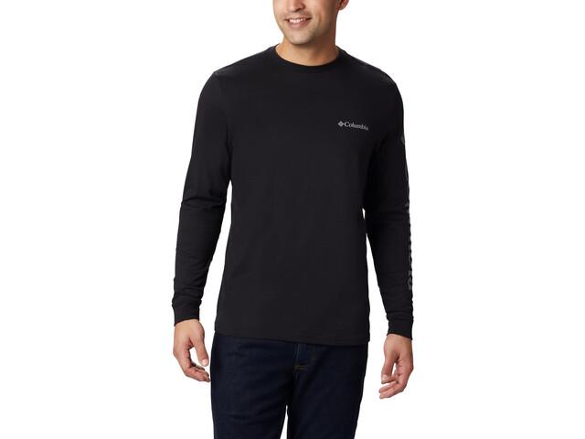 Columbia Columbia Lodge Camiseta Manga Larga Hombre, black/sleeve hit